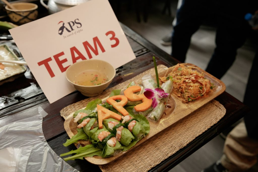 icube events_aps corporate retreat 2017 team building acitivity masterchef challenge team 3 completed food