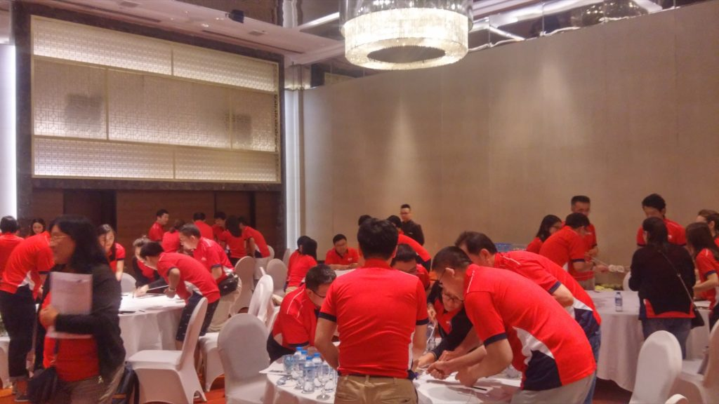 icube events_aps corporate retreat 2017 executives meeting team building activity