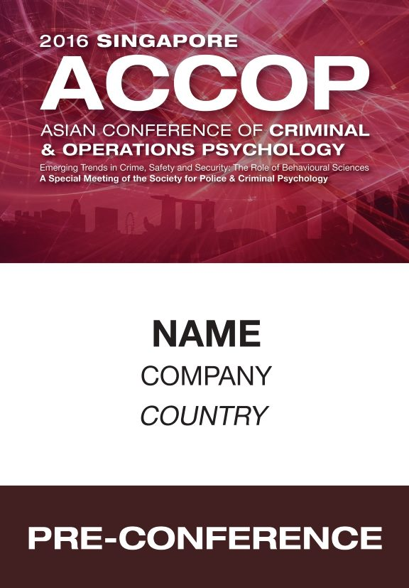 icube events_event collateral accop 2016 name badge design for pre-conference participants