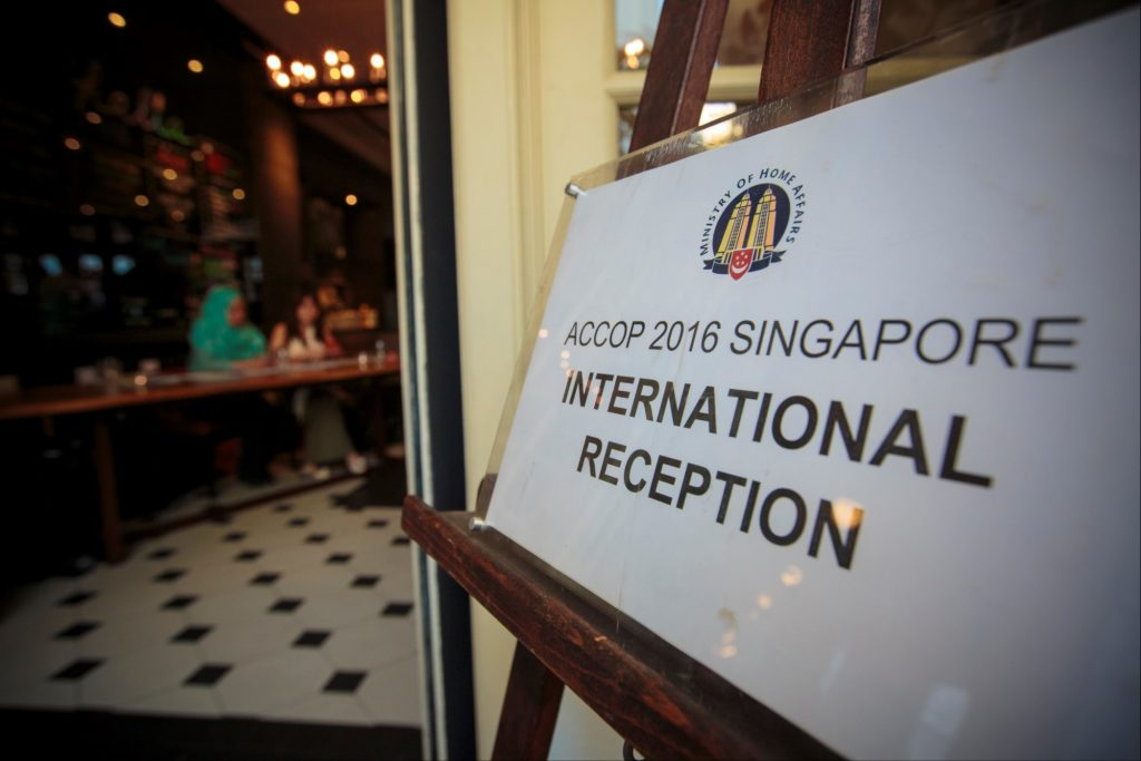 icube events_accop 2016 welcome reception signage