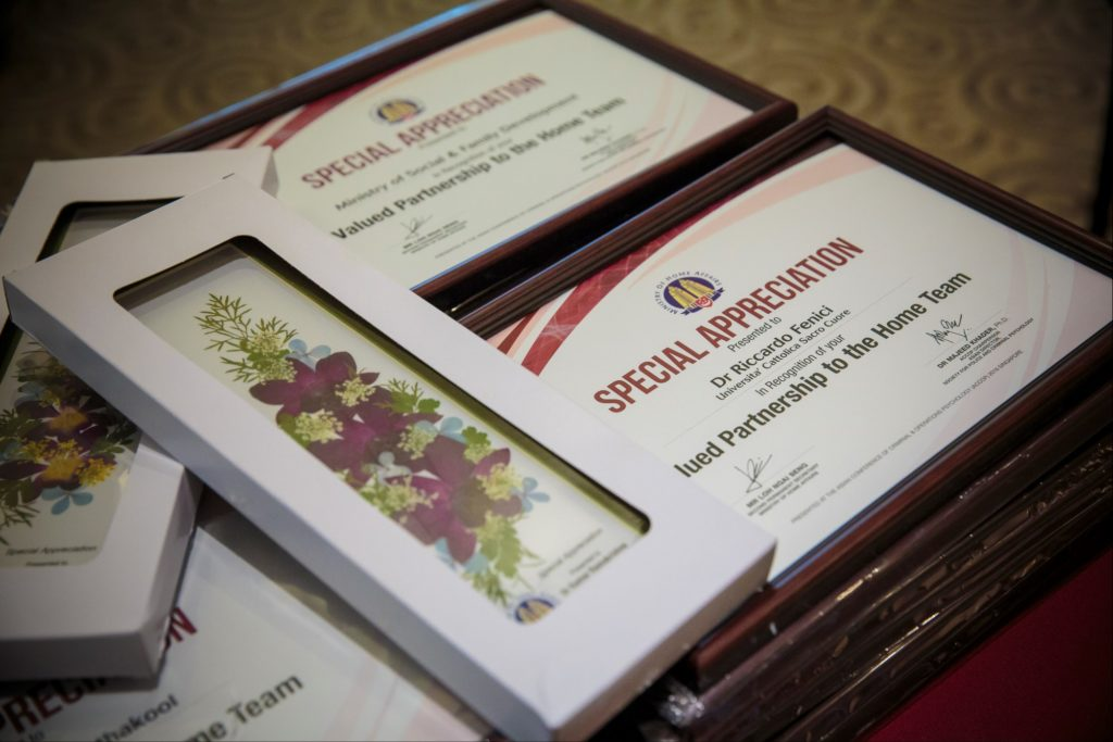 icube events_accop 2016 appreciation certificates and gifts