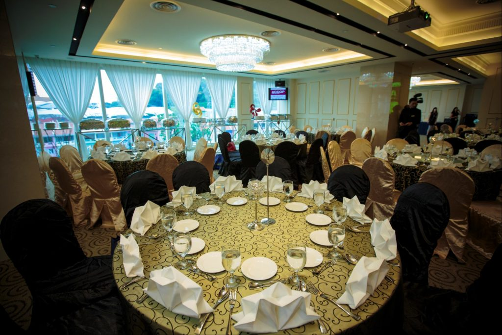 icube events_accop 2016 welcome dinner banquet round table setup
