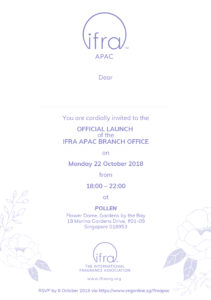 icube events_event collateral ifra opening ceremony invitation card front design