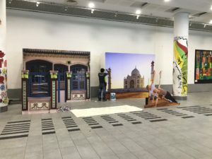 icube events_smu icon global village 2017 india mini backdrop and cutout structures set up
