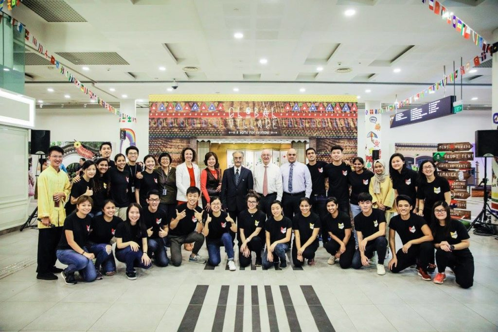 icube events_smu icon global village 2017 smu icon organising students and dean group photo
