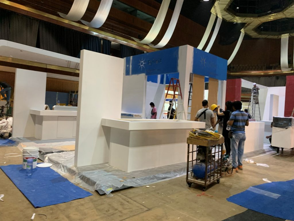 icube events_agilent labasia exhibition booth set up
