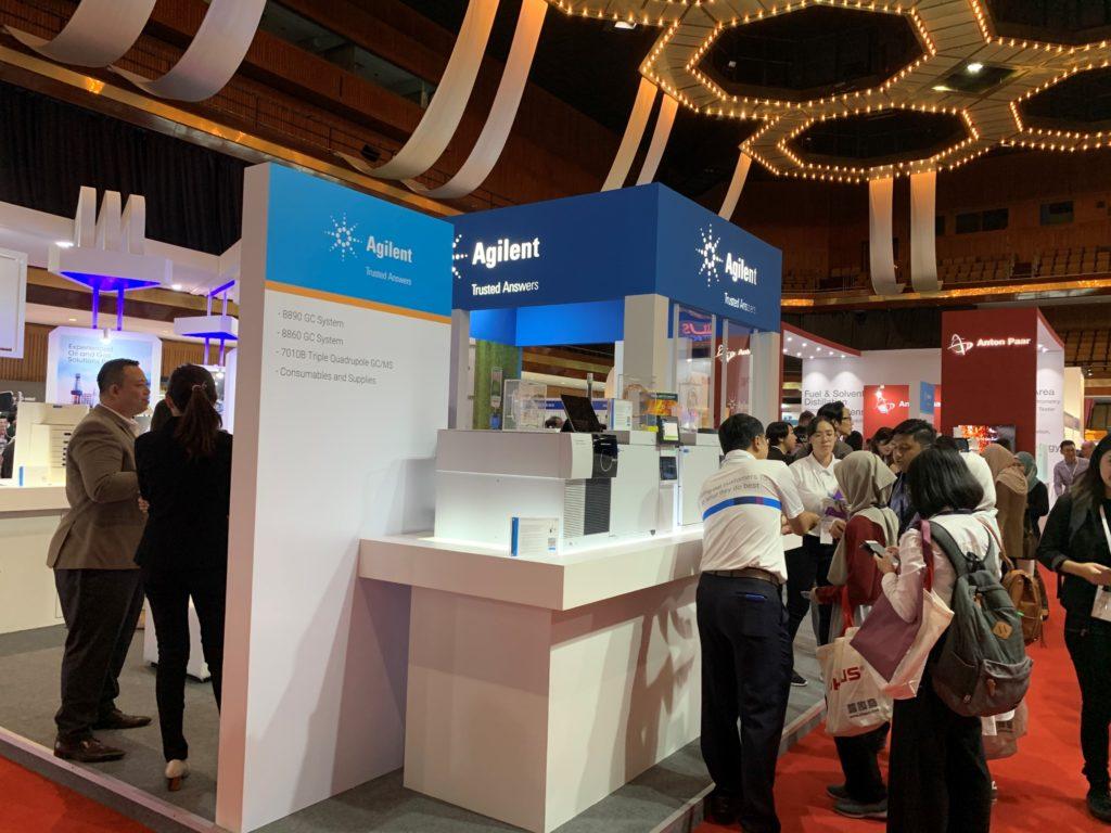 icube events_agilent labasia exhibition booth