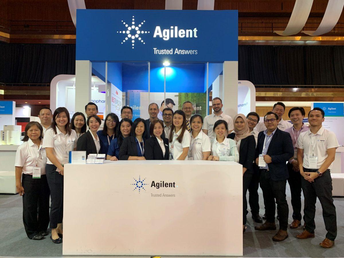icube events_agilent labasia exhibitors group photo