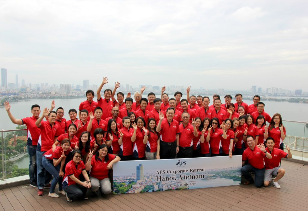 icube events_aps corporate retreat 2017 group photo