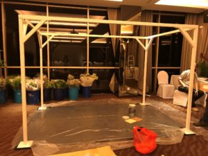 icube events_korean floral masterclass workshop wedding canopy arch bare structure