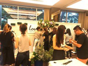 icube events_korean floral masterclass workshop floral wall participants hands on