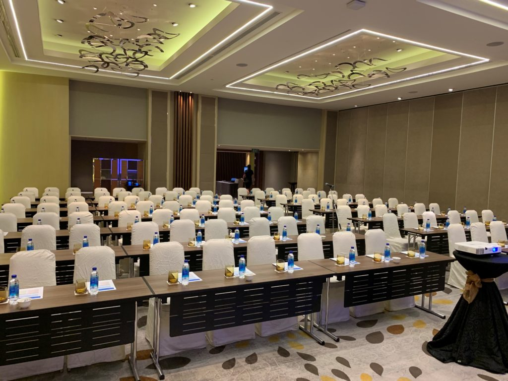 icube events_agilent laboratory innovations meeting room theatre layout