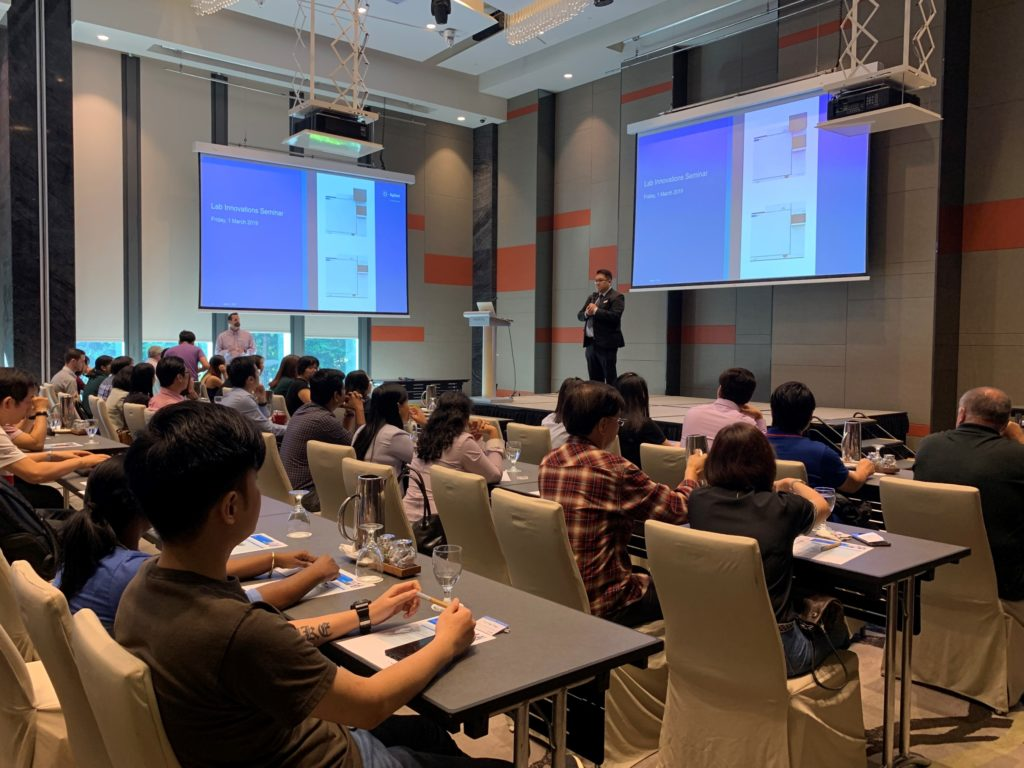 icube events_agilent laboratory innovations conference with classroom setting