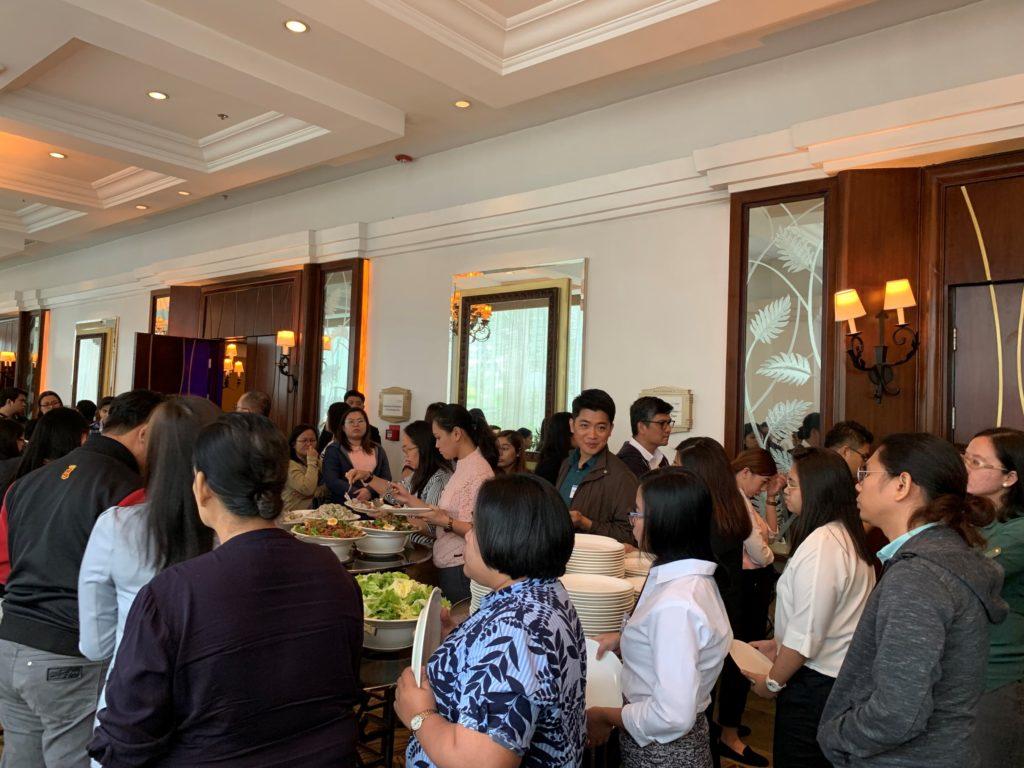 icube events_agilent laboratory innovations buffet line