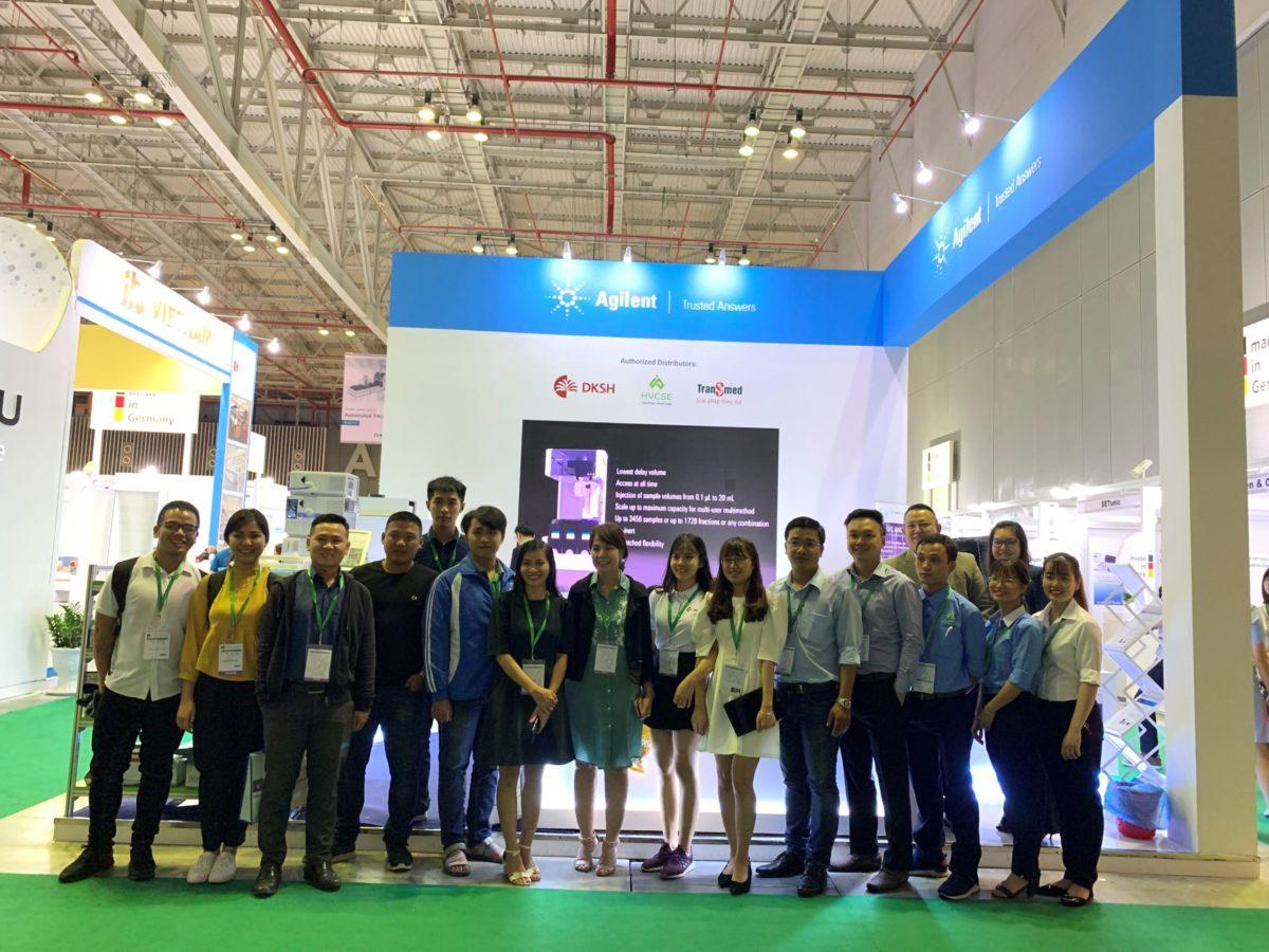 icube events_agilent analytica 2019 exhibitors group photo