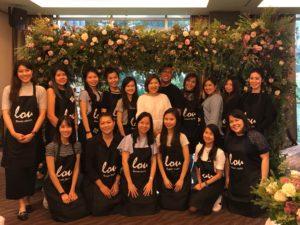 icube events_korean floral masterclass workshop participants group photo