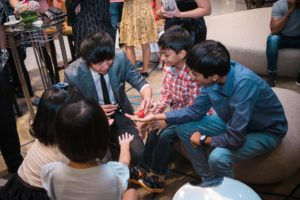 icube events_alfa laval family day 2018 pre-dinner activities roving magician