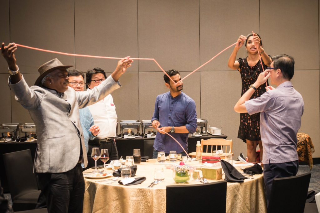 icube events_alfa laval family day 2018 dinner table games