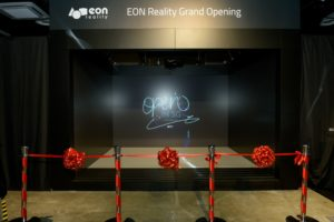 icube events_eon reality opening 2016 virtual backdrop with ribbon cutting mechanism