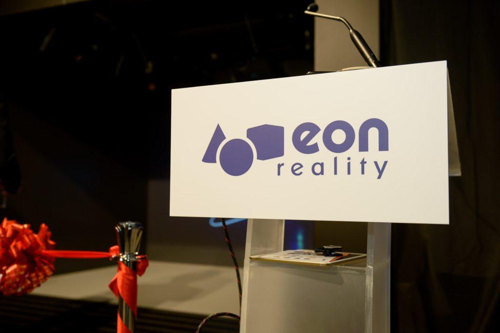 icube events_eon reality opening 2016 customised podium with company logo