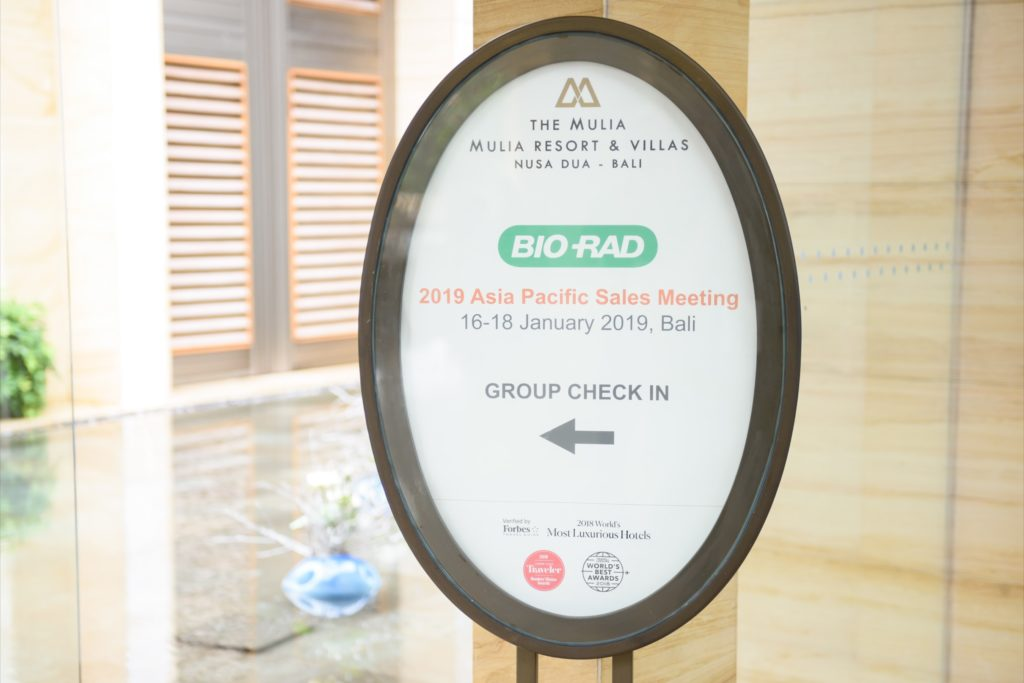 icube events_bio rad asia pacific sales meeting hotel directional signage