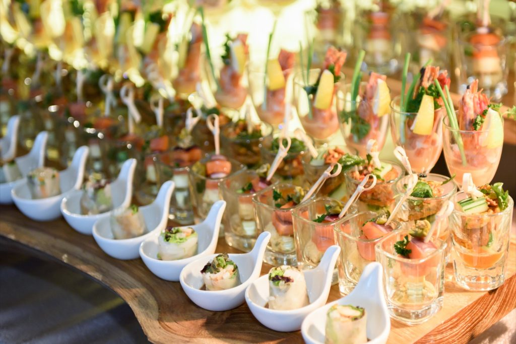 icube events_bio rad asia pacific sales meeting causal welcome dinner menu appetiser