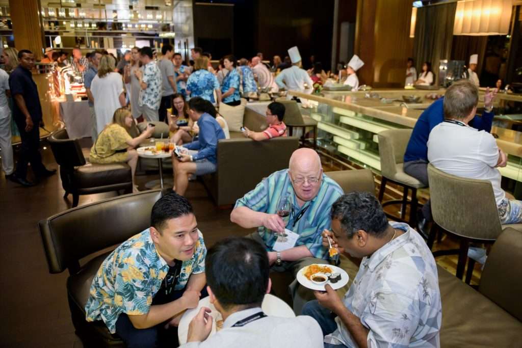 icube events_bio rad asia pacific sales meeting casual welcome dinner reception and sitting buffet style dinner