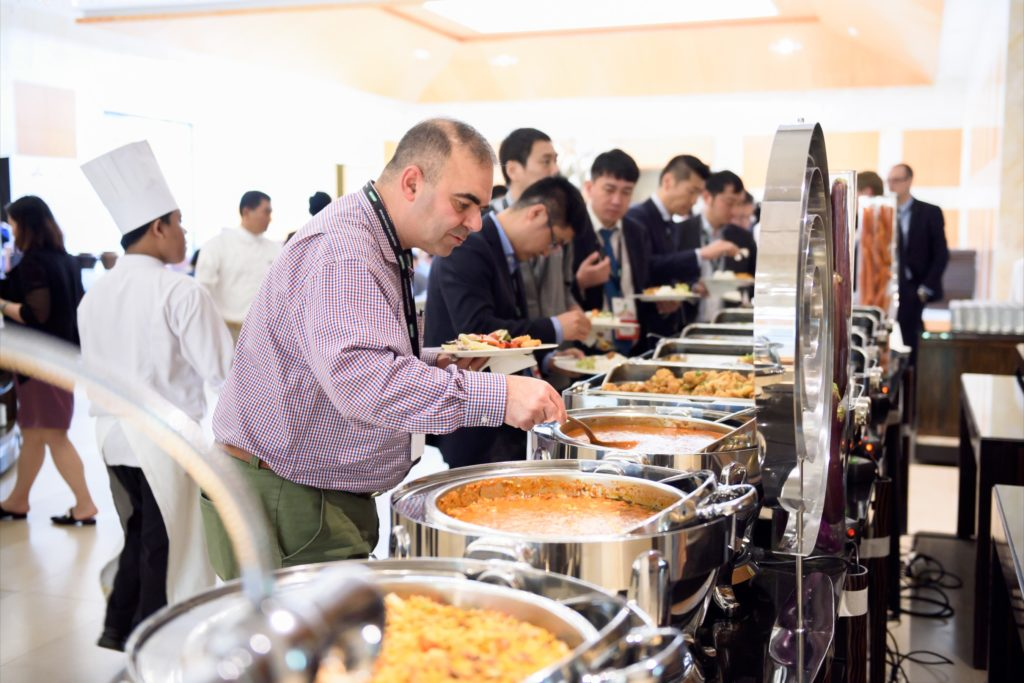 icube events_bio rad asia pacific sales meeting conference day lunch buffet line