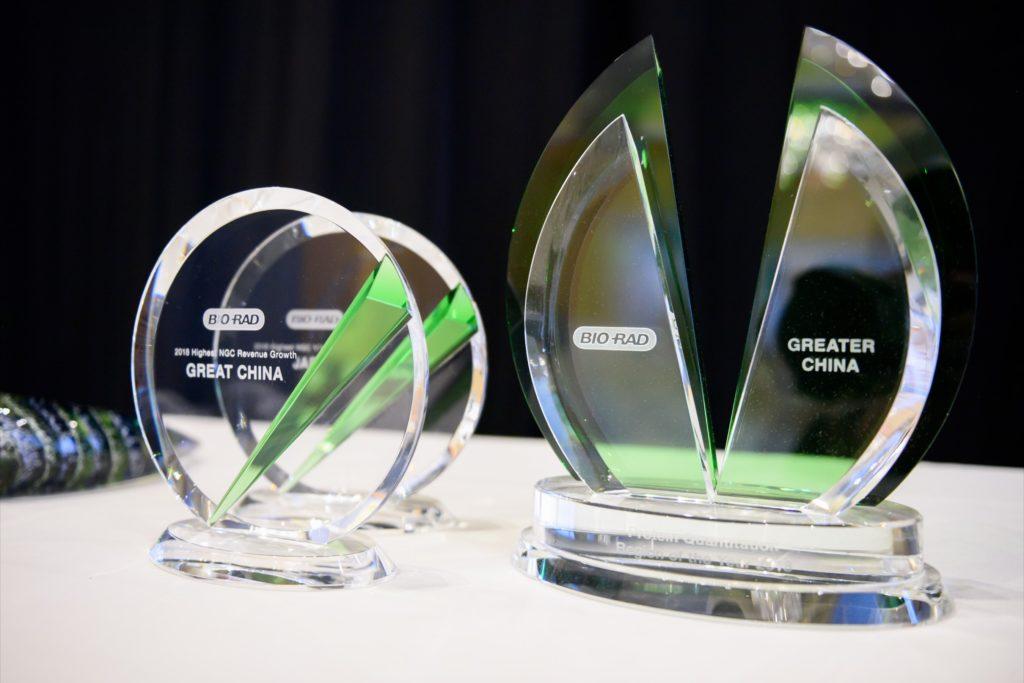 icube events_bio rad asia pacific sales meeting gala dinner acrylic awards