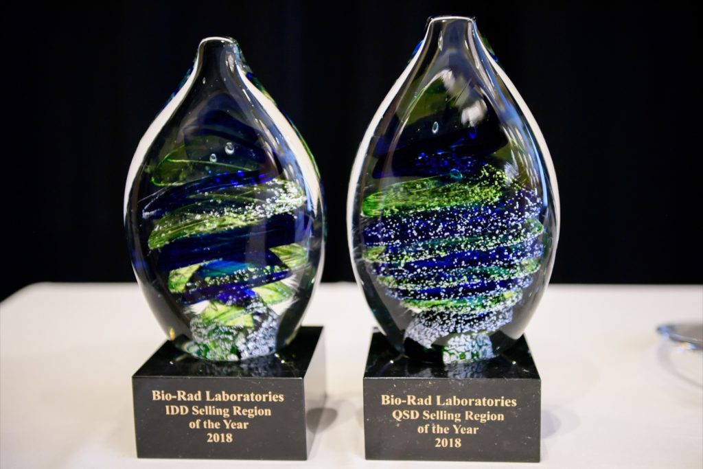icube events_bio rad asia pacific sales meeting coloured acrylic awards