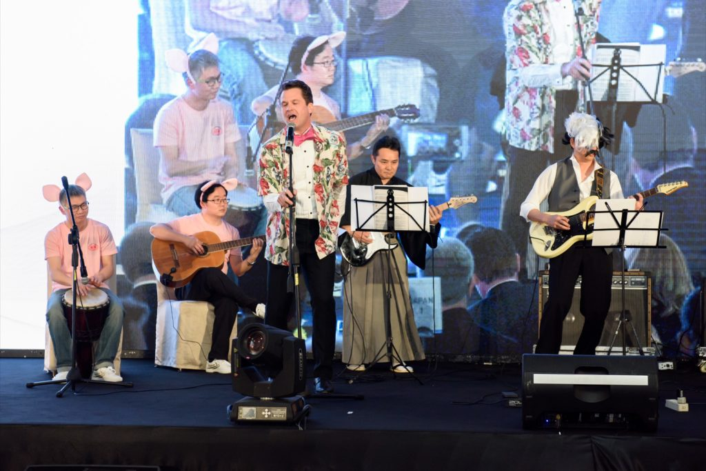 icube events_bio rad asia pacific sales meeting gala dinner live band performance