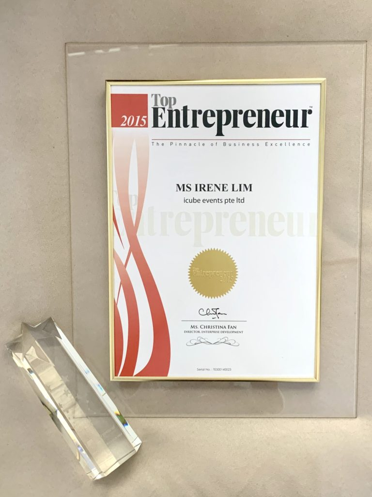 icube events_top entrepreneur award