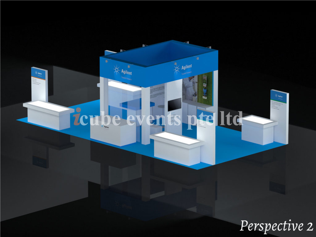 icube events_exhibition lab asia booth perspective 2