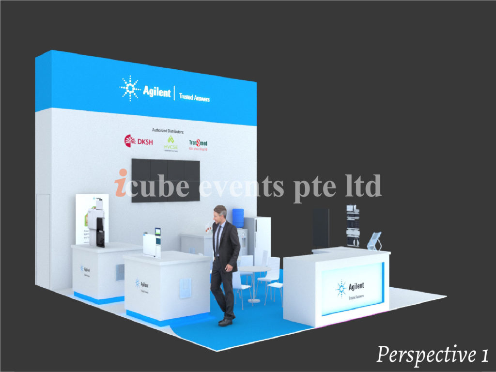 icube events_exhibition analytica vietnam booth perspective 1