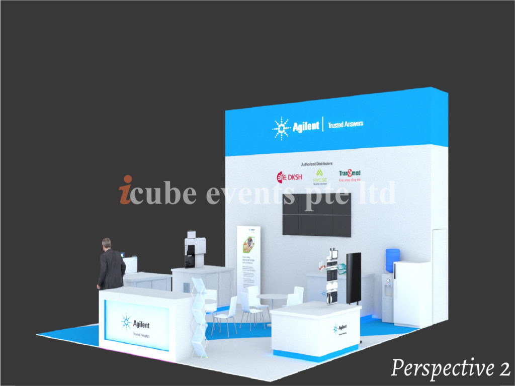 icube events_exhibition analytica vietnam booth perspective 2