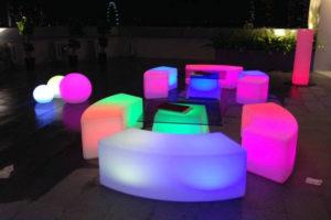 icube events_event logistics neon lighted furniture rentals